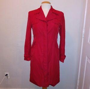 Armani Exchange Red Trench Coat